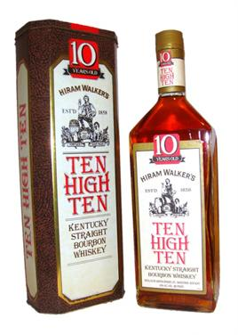 Hiram Walker Bourbon Ten High 10 Yr
